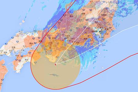 2014.10.06 PC 台風18号 現在位置