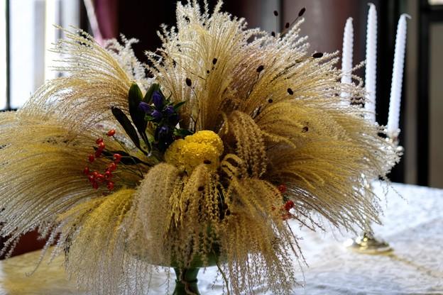 2015.10.02 山手 外交官の家 食堂のテーブルに生花