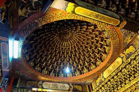 2015.11.09 台中 文武廟 ドーム状の天井