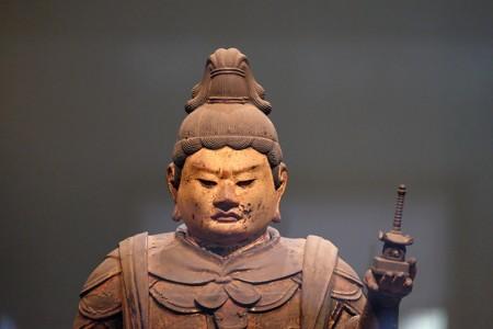 2016.02.17 東京国立博物館 木造毘沙門天立像 宝塔 平安時代 C-1869-1