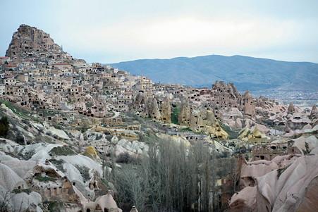 2011.01.25 トルコ カッパドキア 鳩の谷からウチヒサール