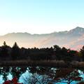 写真: 朝日に照らされて(八ヶ岳)