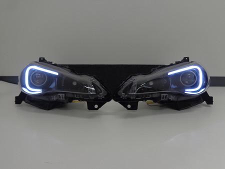 BRZ 愛知県 ヘッドライト加工インナーブラックアウト ホワイトLED点灯時