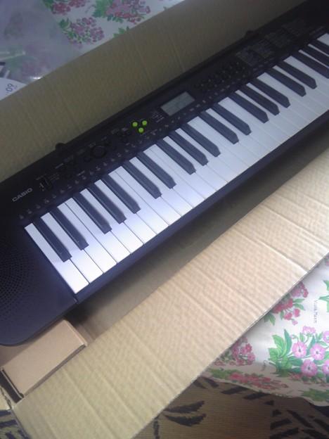 写真: ボイトレ用のキーボードを購入!ピアノありのスタジオを予約できなか...