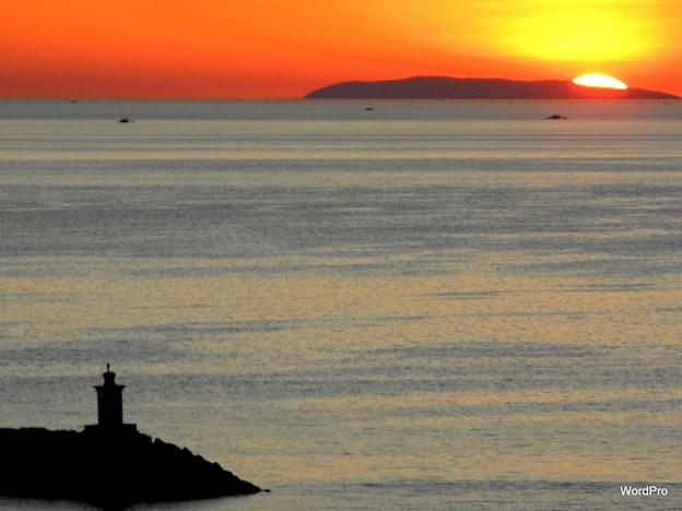 コレヒドールと夕陽