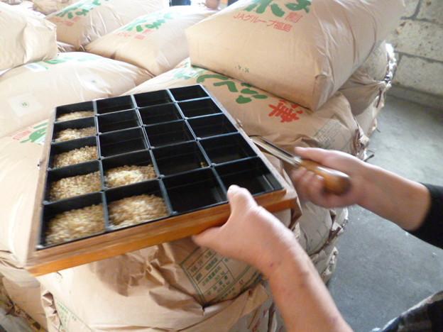 福島の米の品質等級検査