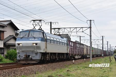 5052レ EF66 102+コキ