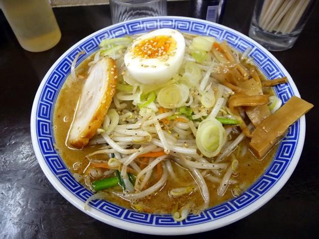 野菜ラーメン・中盛・太麺@茨城大勝軒牛久店・牛久市