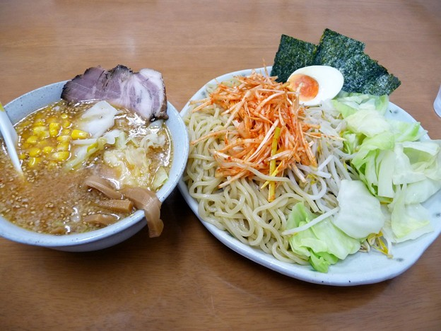 特選味噌つけ麺・中盛・野菜大盛@MARU・牛久市