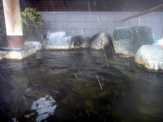 駒寄温泉 湯の道利休・露天風呂上段@群馬県吉岡町