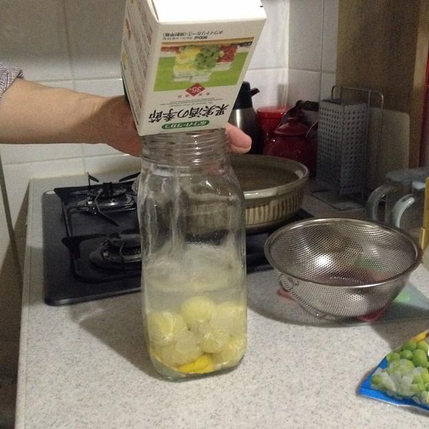 柚子酒仕込み