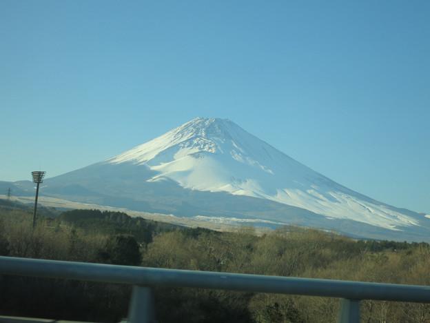 御殿場あたりからの富士山