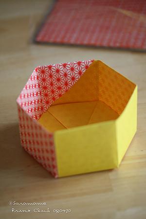 ハート 折り紙 折り紙箱六角形作り方 : divulgando.net