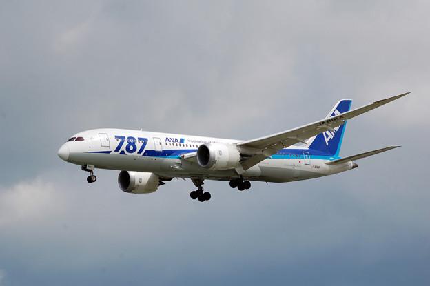 飛行機 ANA 787 Dream Liner 那覇空港