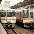 お昼前の浜松駅 313系興津行き778Mと311系豊橋行き937Mの並び