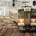 お昼時の浜松駅 豊橋からの211系740M浜松2番進入!
