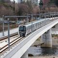 広瀬川を渡る仙台市地下鉄東西線2000系