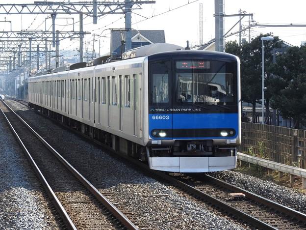 東武アーバンパークライン60000系大宮行き流山おおたかの森入線