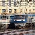 今朝の宇都宮貨物(タ)北部機留線 EF210-150とEF65 2083