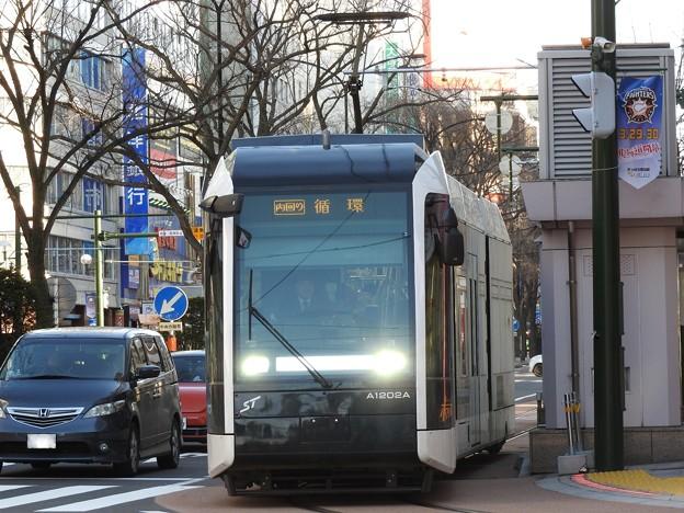 札幌市電環状運転♪ A1200系「ポラリス」 内回り循環