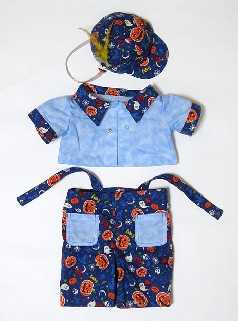 ダッフィーハロウィンコスチューム 吊りズボン*青03
