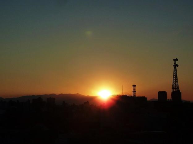 写真: 今日の夕陽