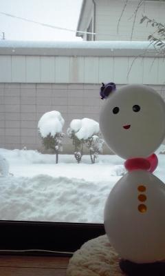 伊勢崎某所の積雪の様子