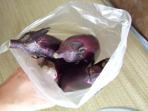 1袋30円のナス