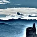 高野連峰が神々しい。