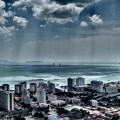 写真: コムタ・59階・・250メートルから撮影