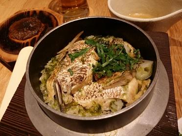 まいか「鯛カマと生青海苔の釜飯」