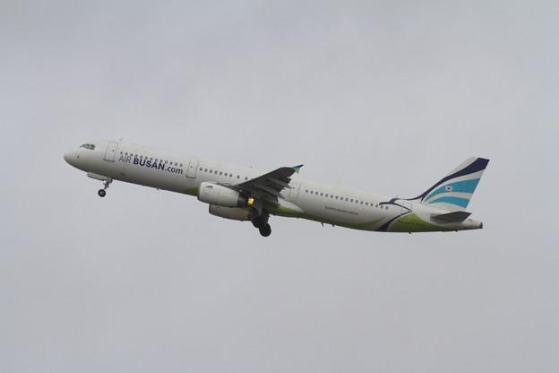 A321 Air Busan雨のCTS初就航 2
