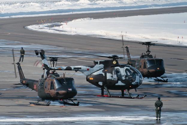 冬季迷彩 OH-6D 31189 NH 1994.MAR 丘珠