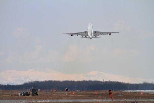 B747 Cygnus01 36R takeoff