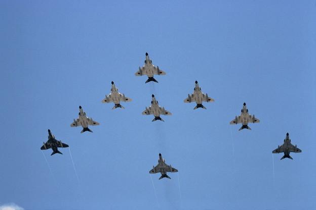 F-4EJ CTS基地祭 1982 9機編隊での展示飛行
