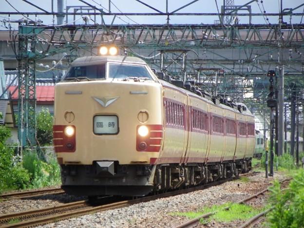 485系新潟車T18編成「柏崎 海の大花火大会夜行臨時列車」返却回送