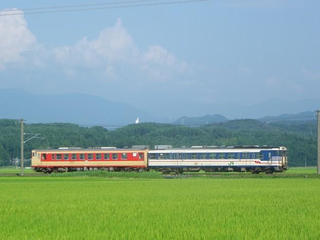 キハ47 520+キハ48 523 羽越線開通90周年号返却回送