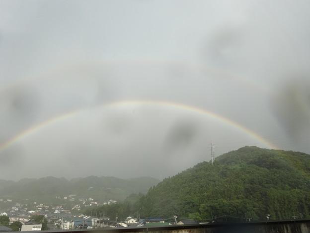 うっすら二重の虹♪