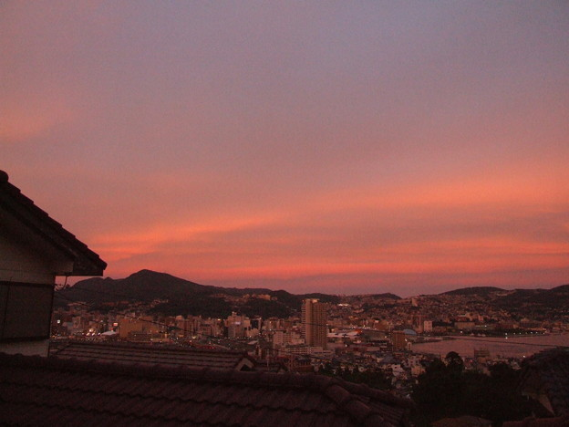 夕焼け 東の空 2