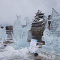 写真: 松本城氷彫フェスティバル