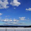 八溝連山と雲