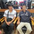 Photos: 足利カントリークラブ多幸コースBクラス月例杯ホールアウト後の和くん、ダイワマン20149.21