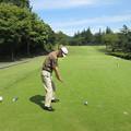 Photos: 足利城ゴルフ倶楽部3番ショートホールK氏ののアドレス2014.9.23