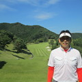 Photos: 足利城ゴルフ倶楽部9番ロングホールの鉄人2014.9.23