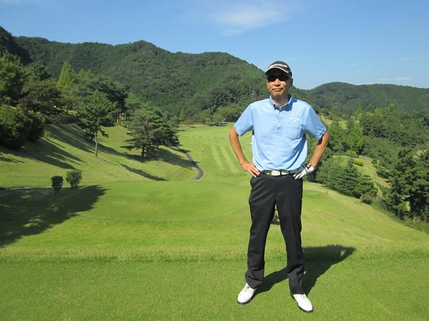 足利城ゴルフ倶楽部9番ロングホールの幹事2014.9.23