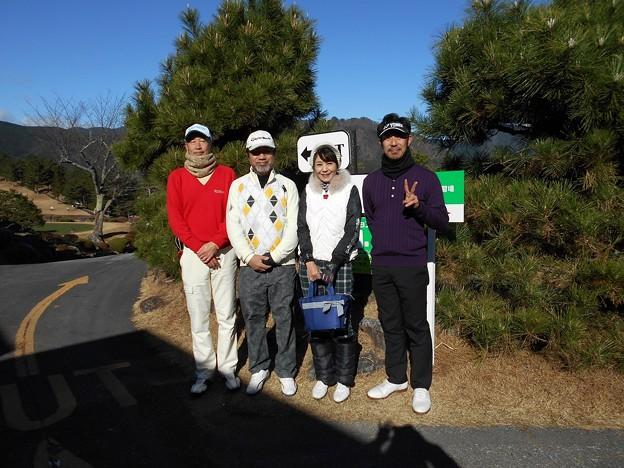 Photos: 足利カントリークラブ多幸コース企業杯コンペにお客様と参加2015.12.19