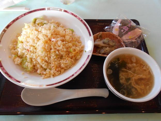 写真: 足利城ゴルフ倶楽部のカニレタスチャーハン2016.1.31