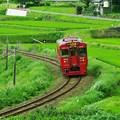 写真: 赤い列車、