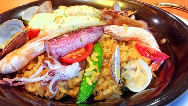 デニーズ ( 成増店 )  魚介類のパエリア