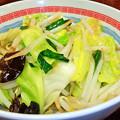 写真: 道頓堀 ( 成増 = ラーメン )  温野菜a            2016/03/05 with M